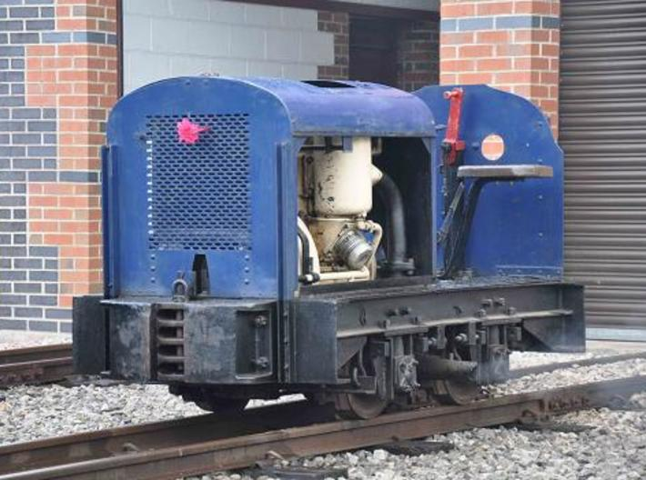 Gn15 Deutz style Loco / Lok couplings x 2 (1:24) 3d printed This real Loco was my inspiration.