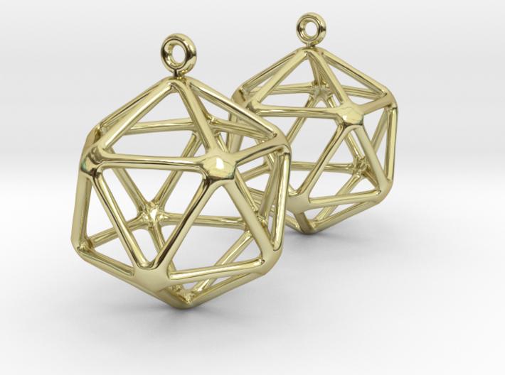 Water earrings 3d printed