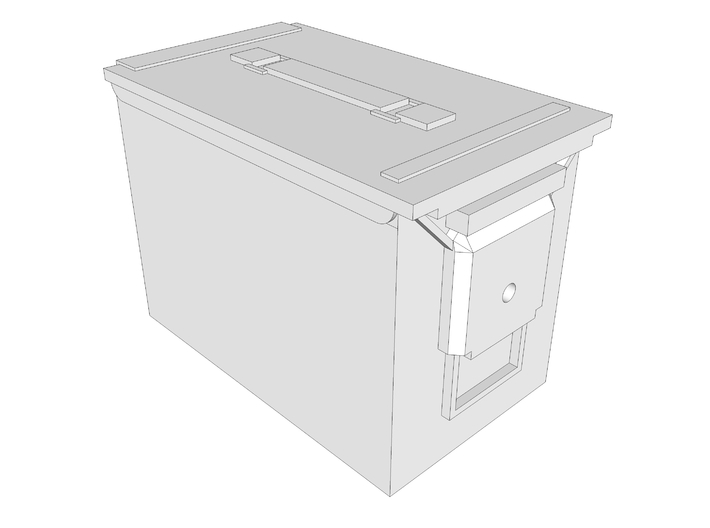 1:6 scale 5.56 fat .50 ammo can box x2 3d printed
