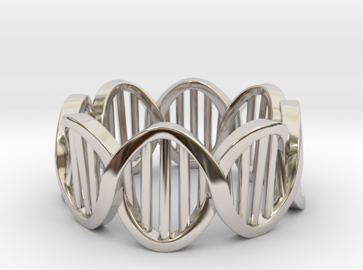 DNA Ring (Size 6) 3d printed