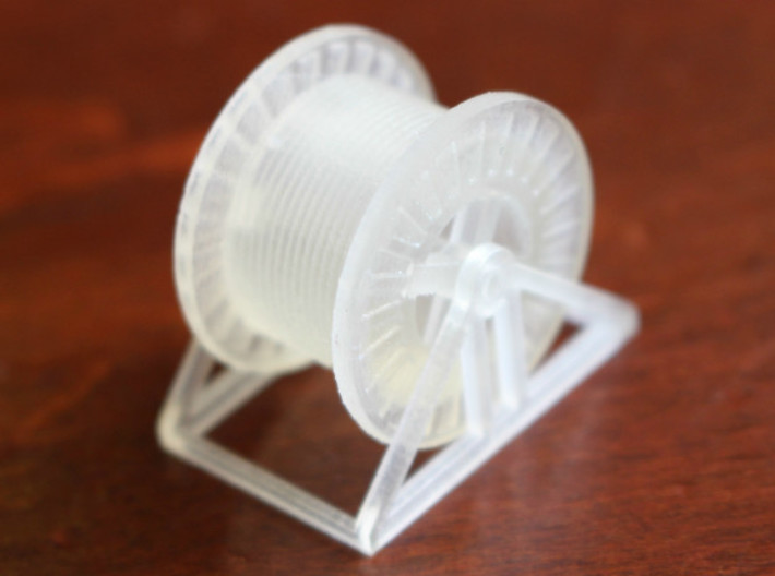 N Scale Steel Cable Reel (Full) 3d printed