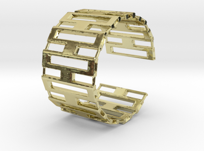 Jackson cuff bracelet (small/medium, loose fit) 3d printed