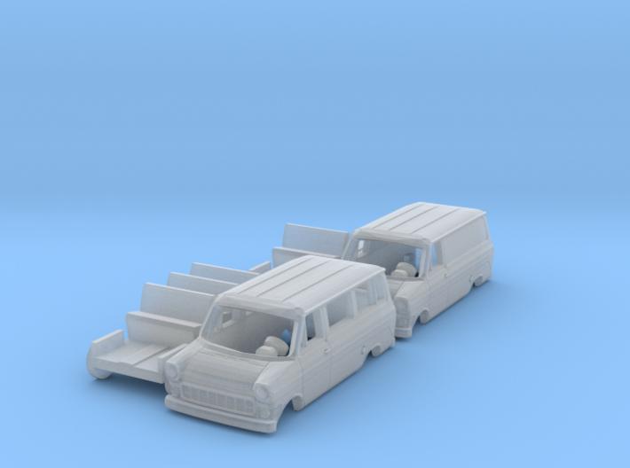 SET 2x Ford Transit (TT 1:120) 3d printed