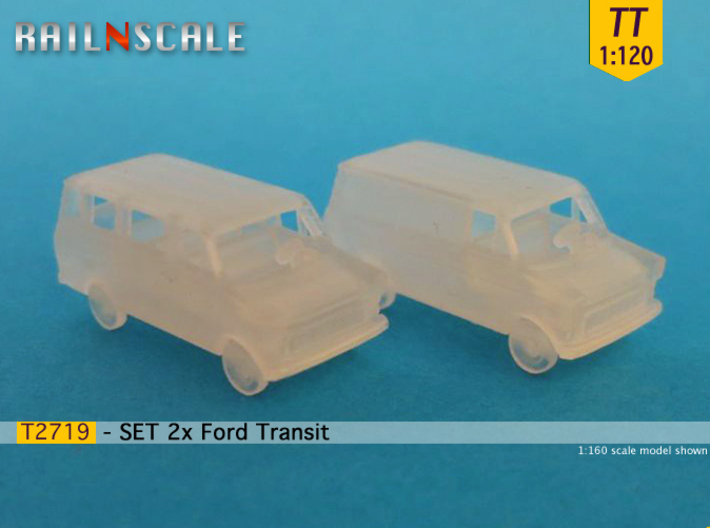 SET 2x Ford Transit (TT 1:120) 3d printed