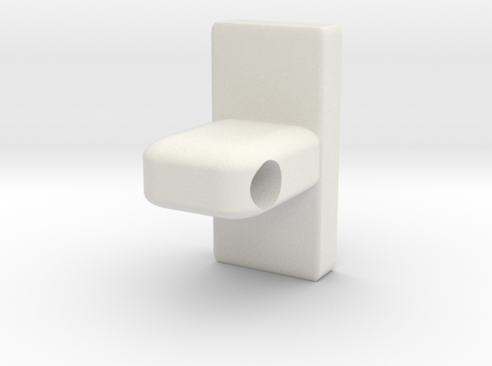 Towel Rod Rail End Support (12.7mm Diameter Rod) 3d printed