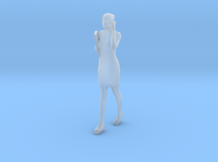 Woman walking with phone 16th 3d printed