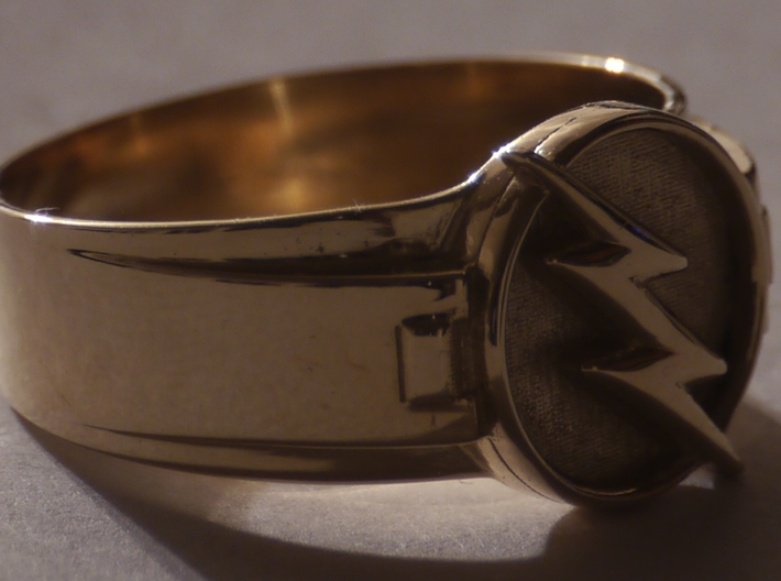V2 Reverse Flash Ring size 8.5 18.5mm 3d printed