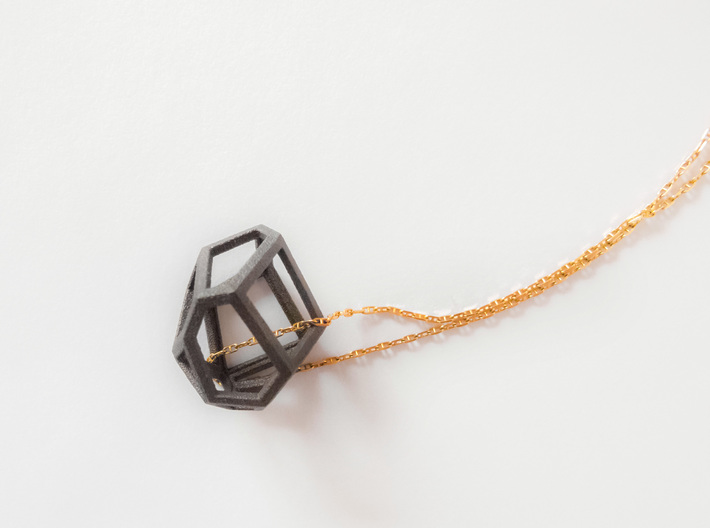 Voronoi cell necklace 3d printed
