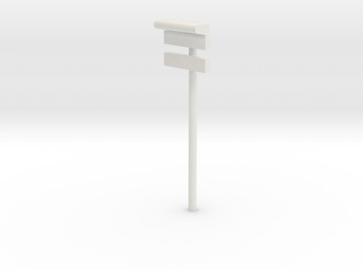 DSB Stations lampe med stations skilt og undertavl 3d printed