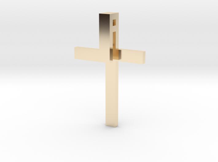 Folded Cross 3d printed