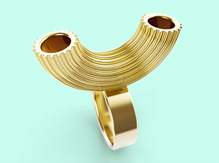 Macaroni Ring 3d printed