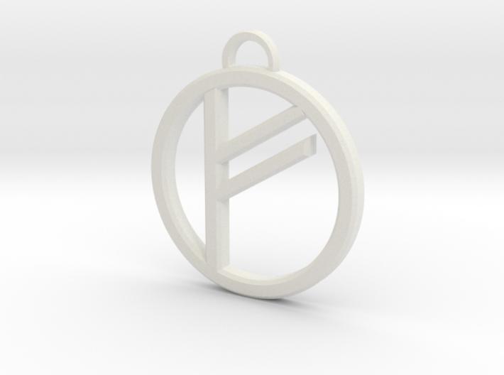 Runic Freya Pendant 3d printed