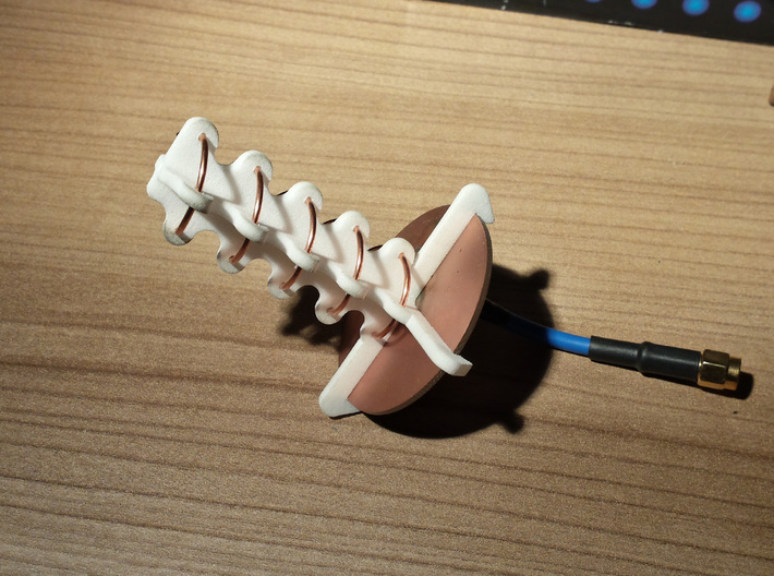 5.8ghz Helical Antenne 7 Turn RHCP 2015 3d printed