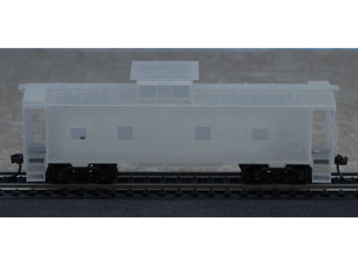 ACL M5 Caboose - HO 3d printed The caboose with Athearn trucks and Kadee #158 couplers attached.