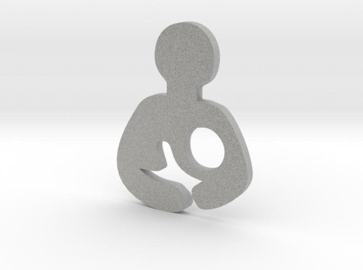 Breastfeeding Plate/Charm (Origami Owl) 3d printed