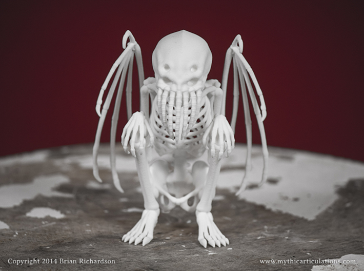 Cthulhu Skeleton 3d printed