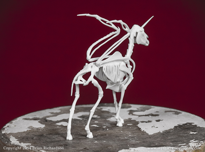 Alicorn Skeleton 3d printed