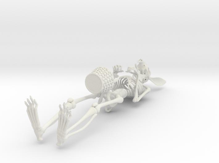Easter Bunny Skeleton 3d printed