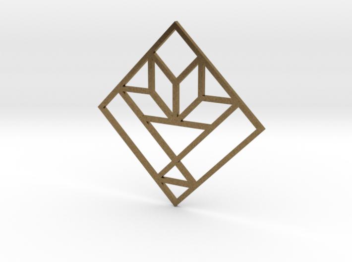 Cactus Basket Quilt Block Pendant 3d printed