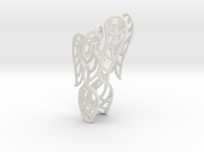 Phoenix Earrings (conture) 3d printed