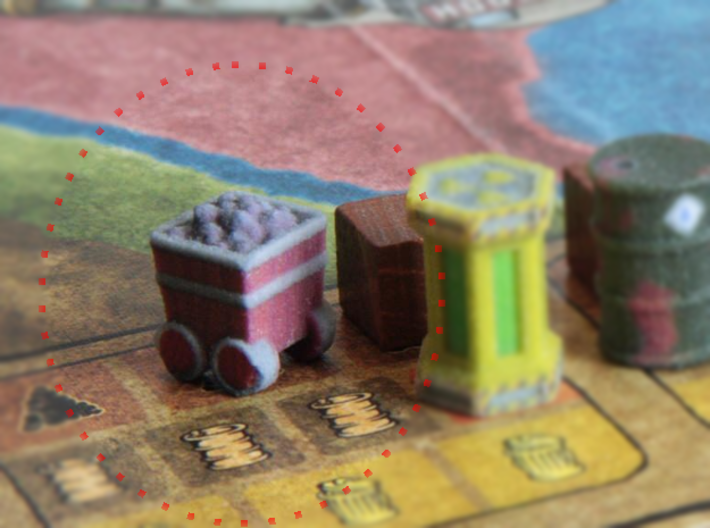 Game Piece, Power Grid, Coal Cart x24 3d printed