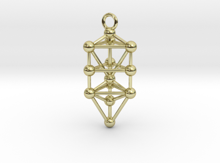Small Triangular Tree of Life Pendant 3d printed
