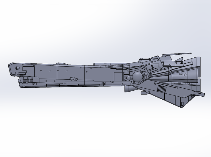 LoGH Imperial Konigs Tiger 1:3000 (Part 2/2) 3d printed Render Image