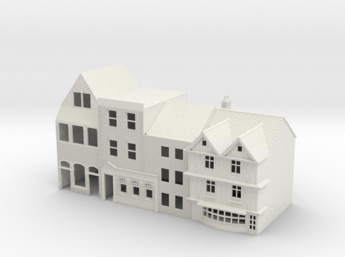 N Gauge Topsham Fore Street buildings 3d printed