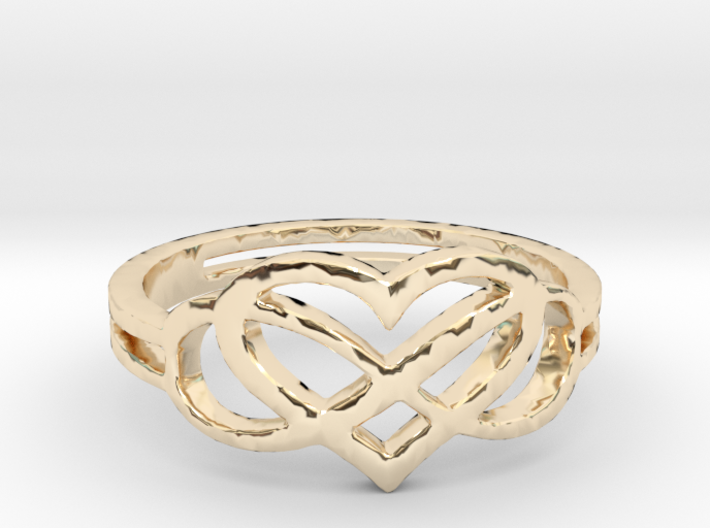 Forever Love Ring Ring Size 7 3d printed