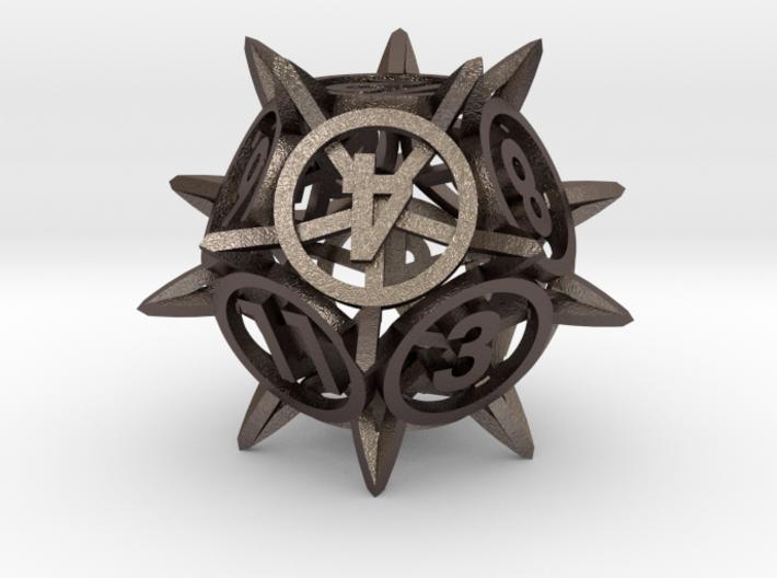 'Center Arc' dice, D12 balanced gaming die 3d printed