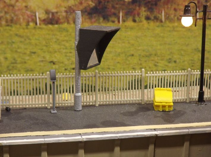 L-03 Lineside Telephones 3d printed A Telephone Painted and Installed on a layout