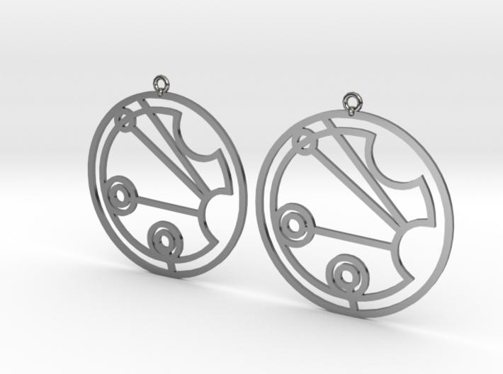 Justine - Earrings - Series 1 3d printed