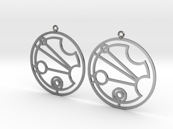 Justina - Earrings - Series 1 3d printed
