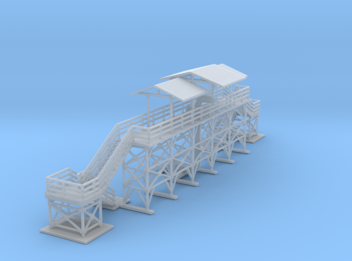 Oil Loading And Unloading Station Z Scale 3d printed Oil station Platform Z scale