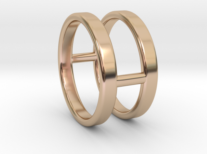 Minimalist Double Bar Ring 3d printed