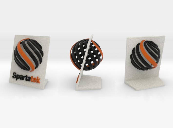Spartatek 3D Logo 3d printed Multiple views - Full Color Sandstone