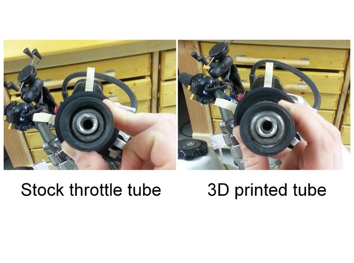 Quick Turn Throttle Tube for Suzuki DR-Z400 3d printed Stock vs. 3D printed throttle tubes on DR-Z400SM with FCR39 carb.