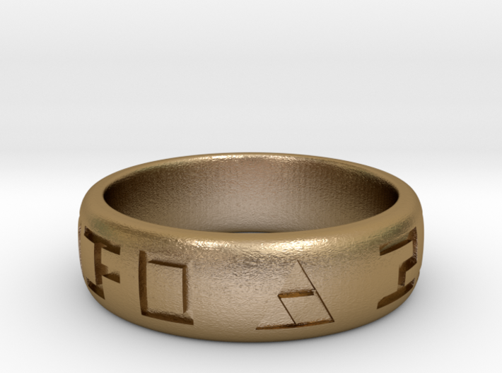 Hylian Hero's Band - 6mm Band - Size 7.5 3d printed