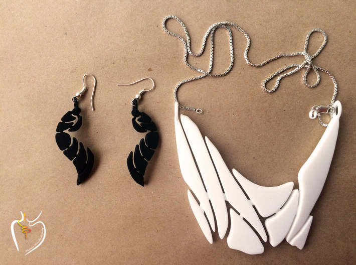 Bones Earrings Set 3d printed