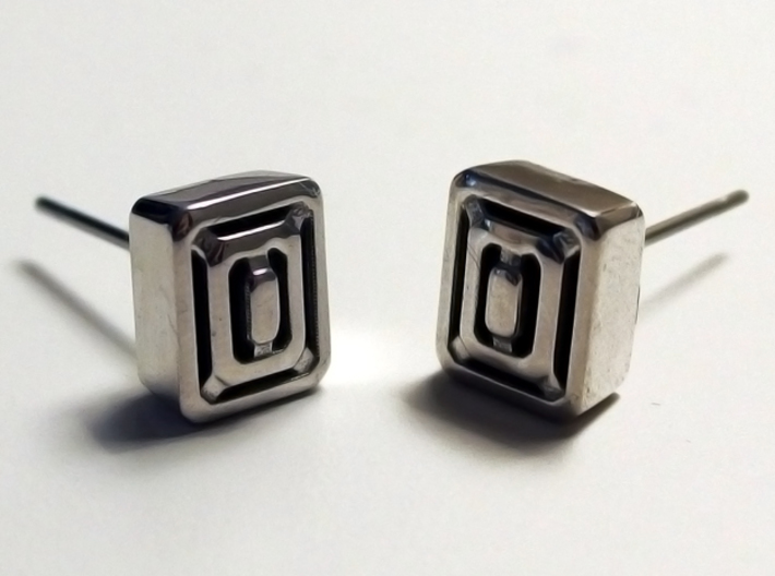 Caged Stud Earring 3d printed