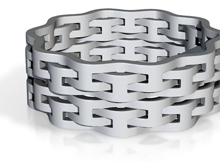 Interlaced Ring Doubled, U.S. Size 10 3d printed