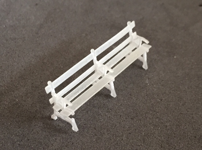 Four station benches (HO) 3d printed