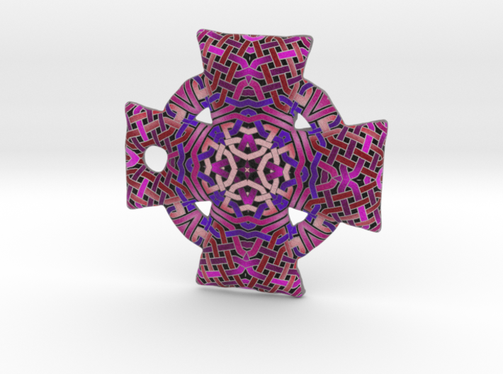 Pink Celtic Cross Pendant 3d printed