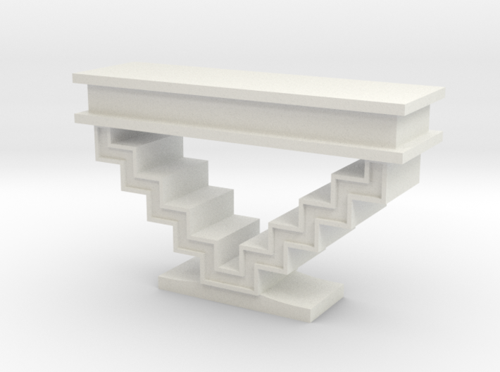 1:48 Zig Zag Console Table 3d printed