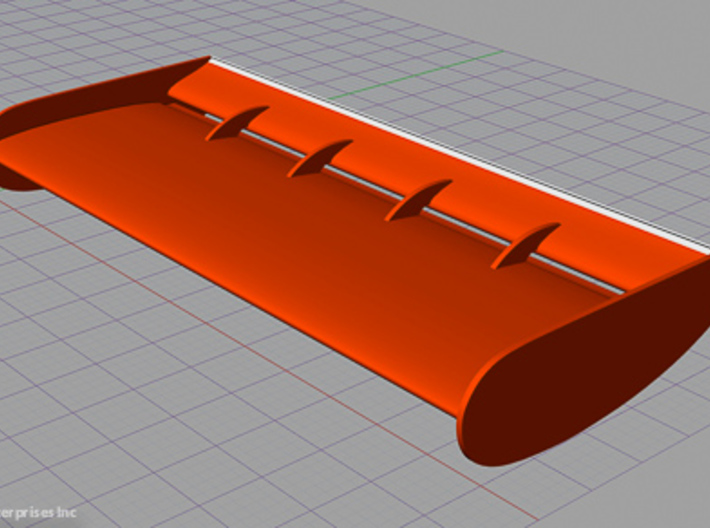 1973 Eagle Rear Wing 3d printed