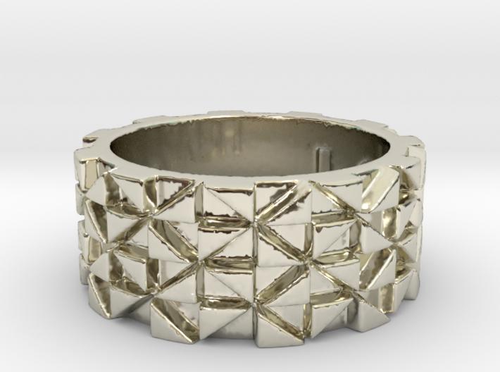 Futuristic Ring Size 4.5 3d printed