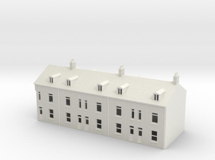Topsham terraced houses N Scale 1:148 3d printed