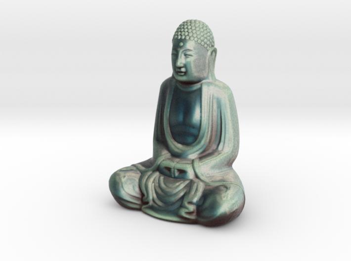 Textured Buddha: stormy sky. 3d printed