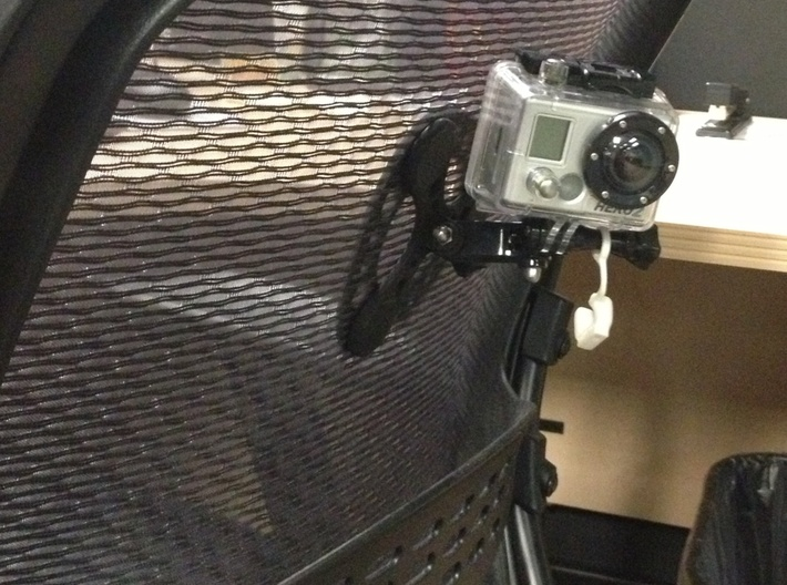 Magnetic GoPro Mount  with back mount for fabric,  3d printed