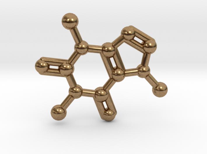 Caffeine Molecule Necklace Keychain 3d printed